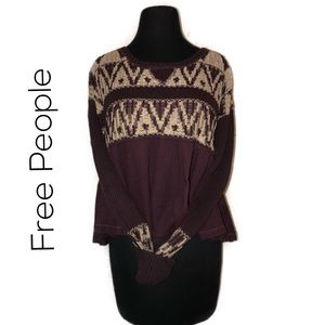 Free People Lightweight Hi Lo pullover, Size XS